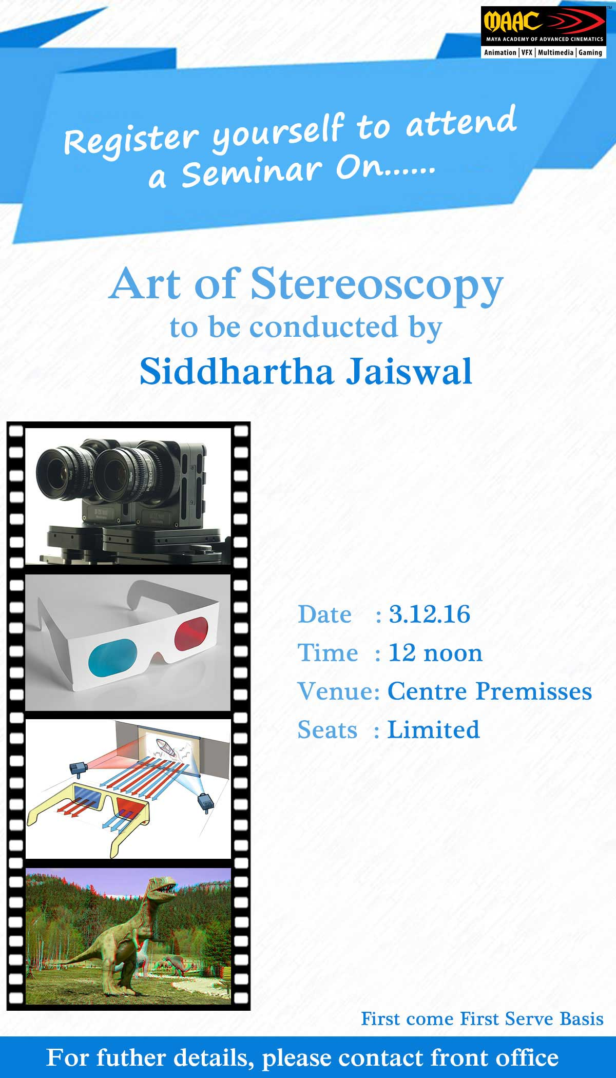 Weekly Master Class on Art of Stereoscopy - Siddhartha Jaiswal