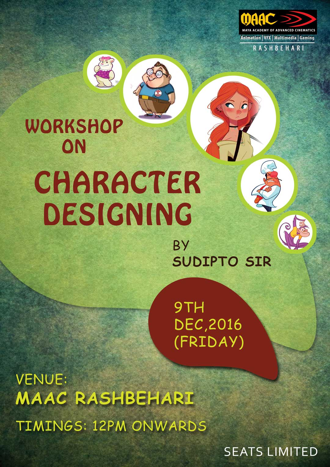 Weekly Master Class on Character Designing - Sudipto Ganguly