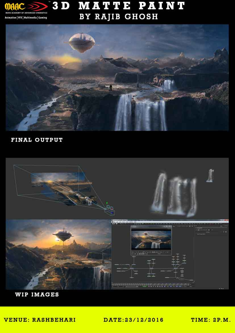 Weekly Master Class on 3D Matte Painting - Rajib Ghosh