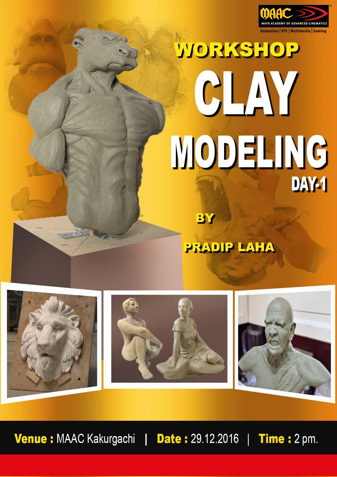 Weekly Master Class on Clay Modelling - Pradip Laha
