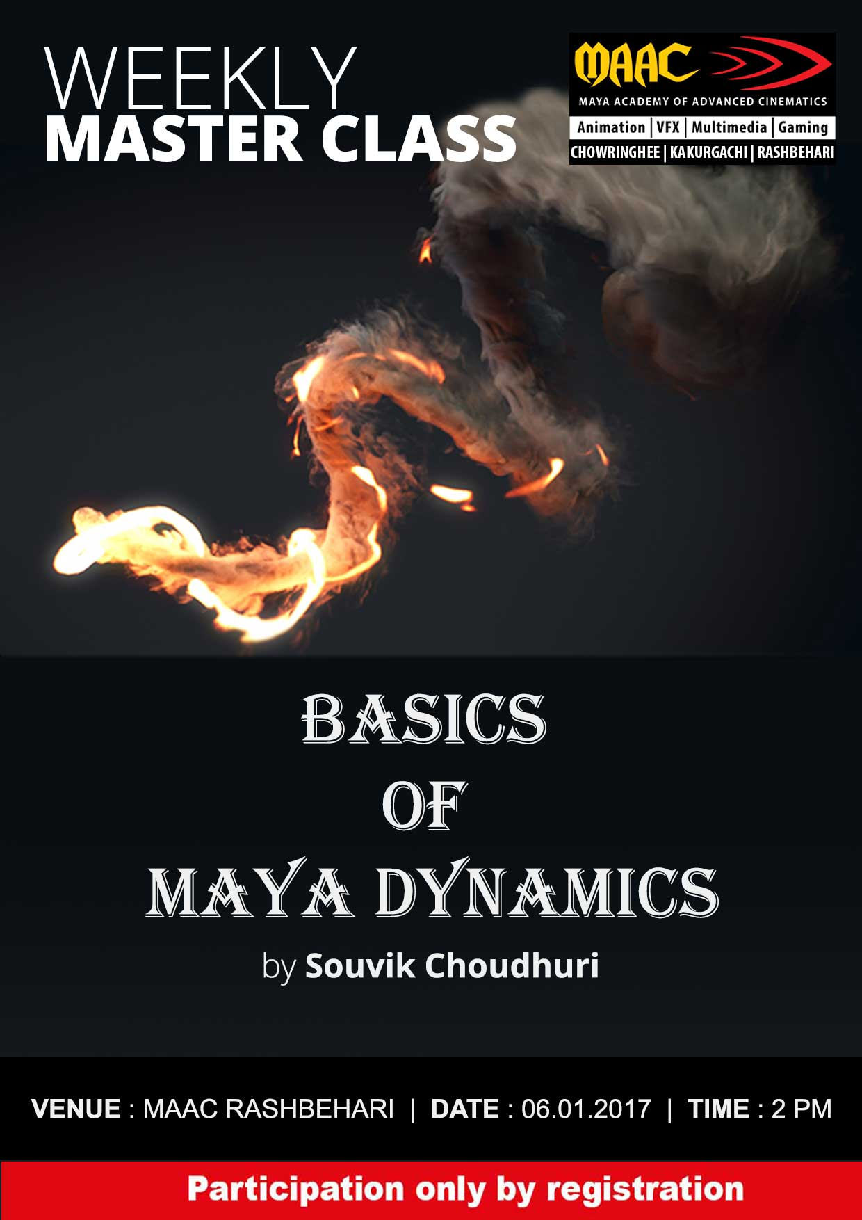 Weekly Master Class on Basics of Maya Dynamics - Souvik Choudhuri