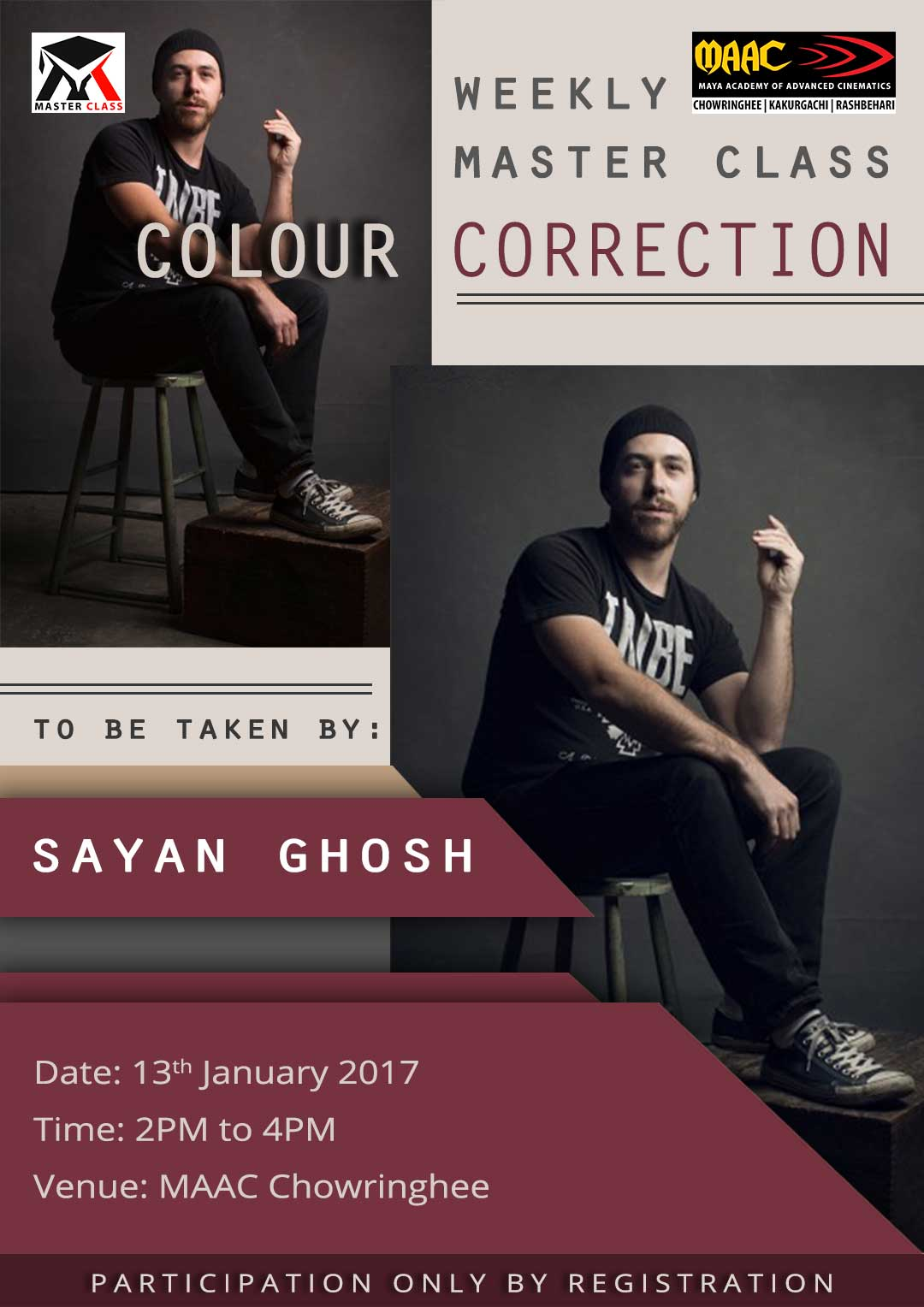Weekly Master Class on Colour Correction - Sayan Ghosh