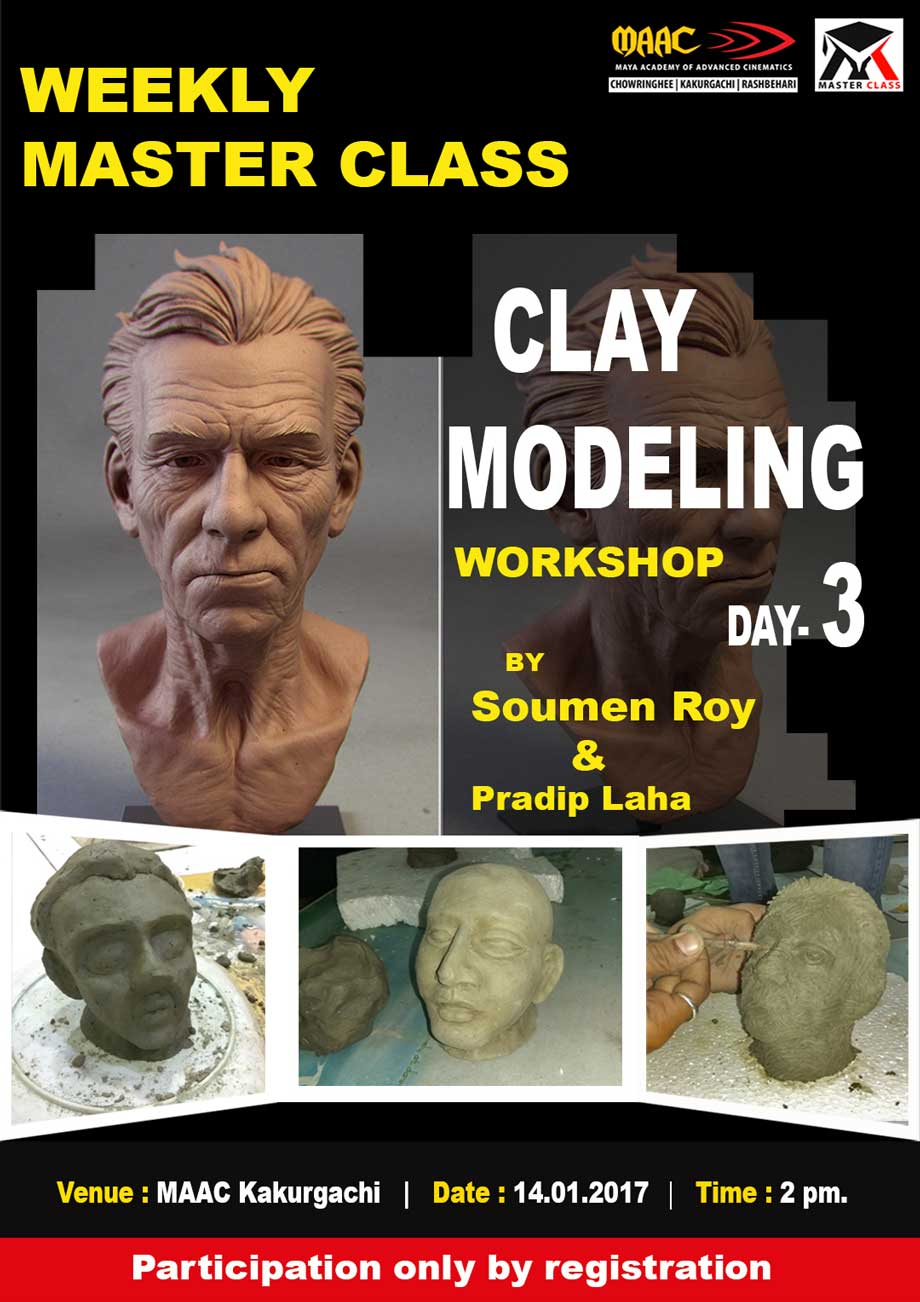 Weekly Master Class on Clay Modeling Day-3 - Soumen Roy & Pradip Laha