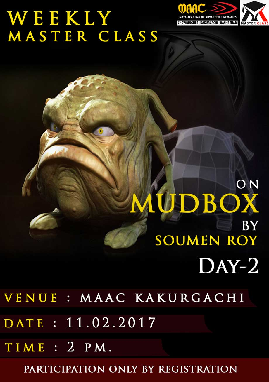 Weekly Master Class on Mudbox Modeling (Day-2)�- Soumen Roy