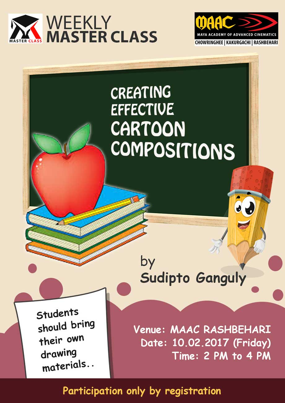 Weekly Master Class on Creating Effective Cartoon Composition - Sudipto Ganguly