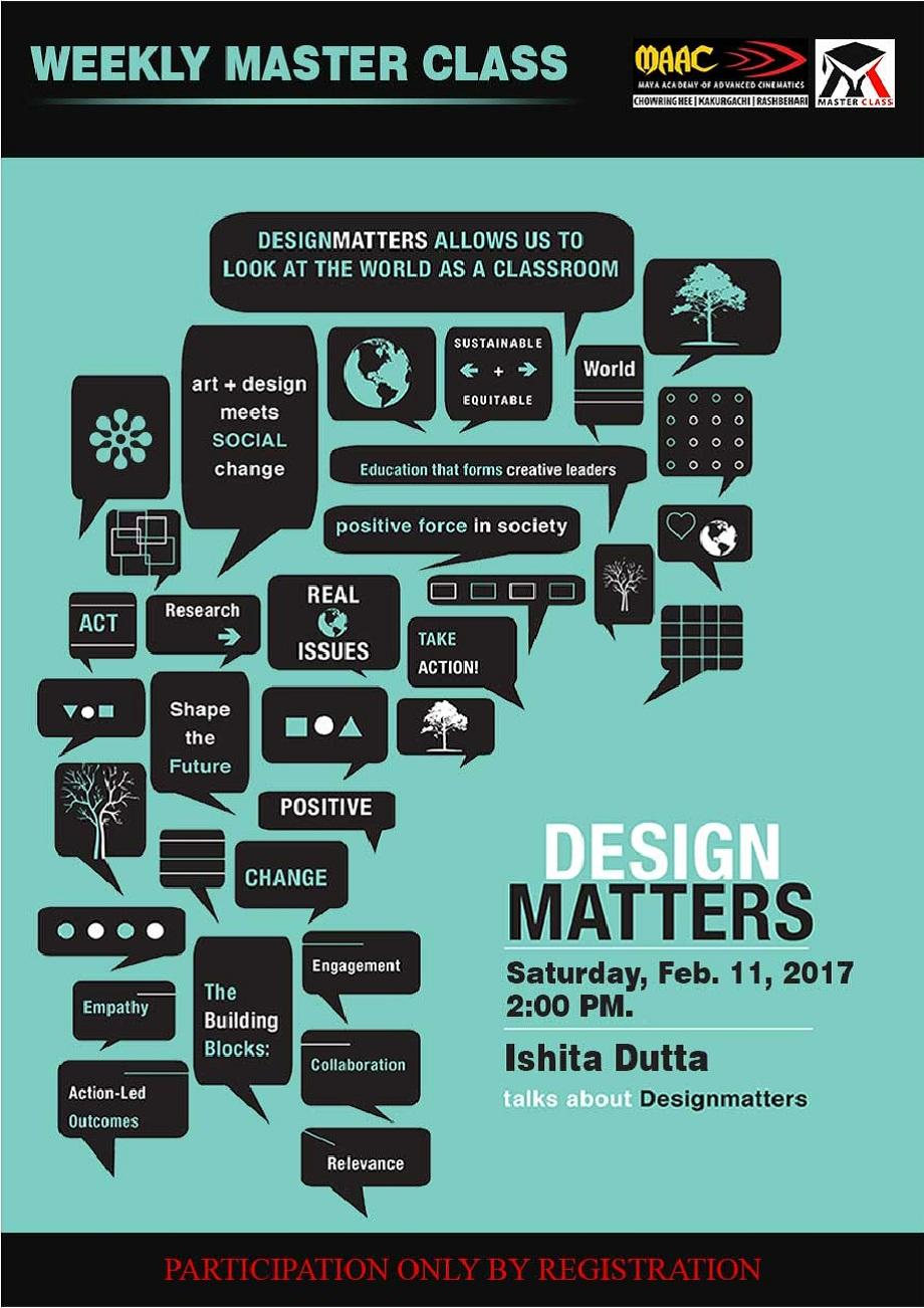 Weekly Master Class on Design Matters - Ishita Dutta