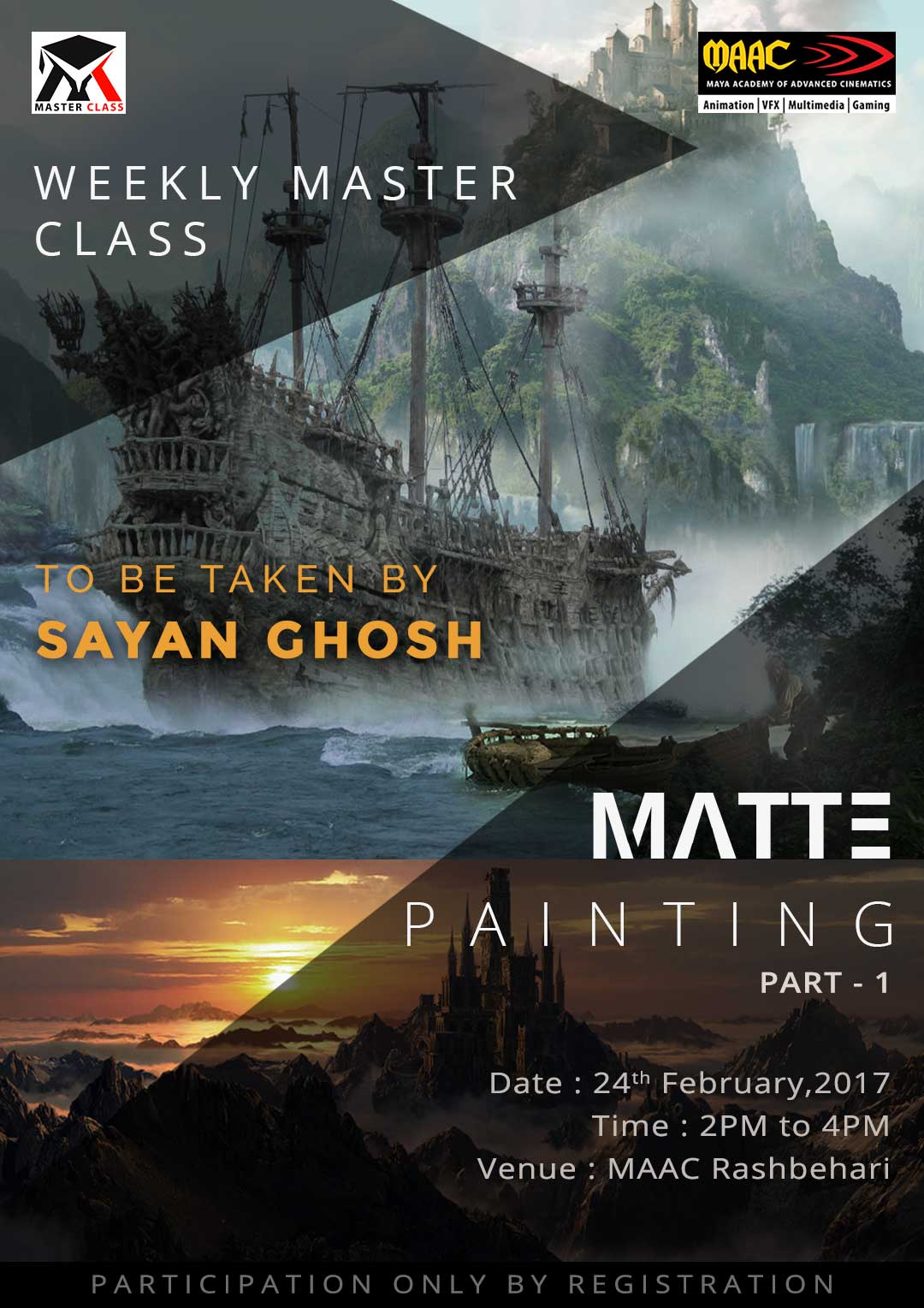 Weekly Master Class on Matte Painting Day-1 - Sayan Ghosh