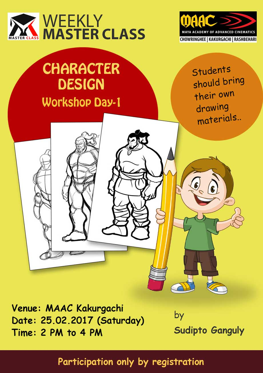 Weekly Master Class on Character Designing Day-1 - Sudipto Ganguly