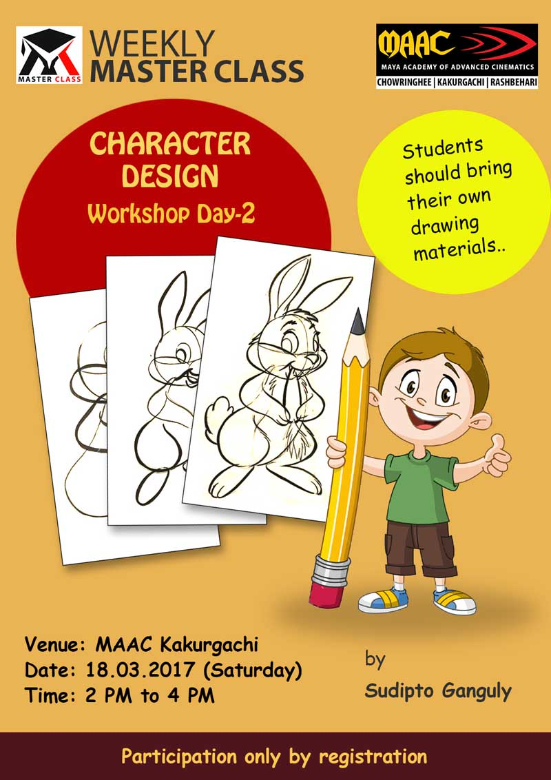 Weekly Master Class on Character Designing Day-2 - Sudipto Ganguly