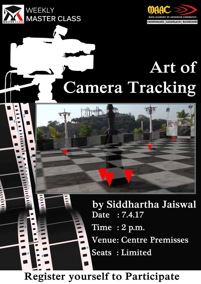 Weekly Master Class on Art of Camera Tracking - Siddhartha Jaiswal