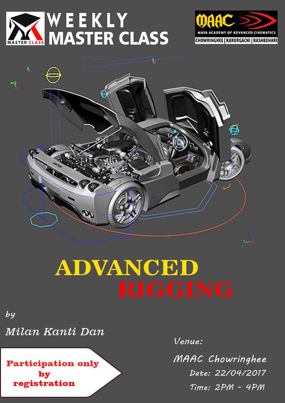Weekly Master Class on Advanced Rigging - Milan Kanti Dan