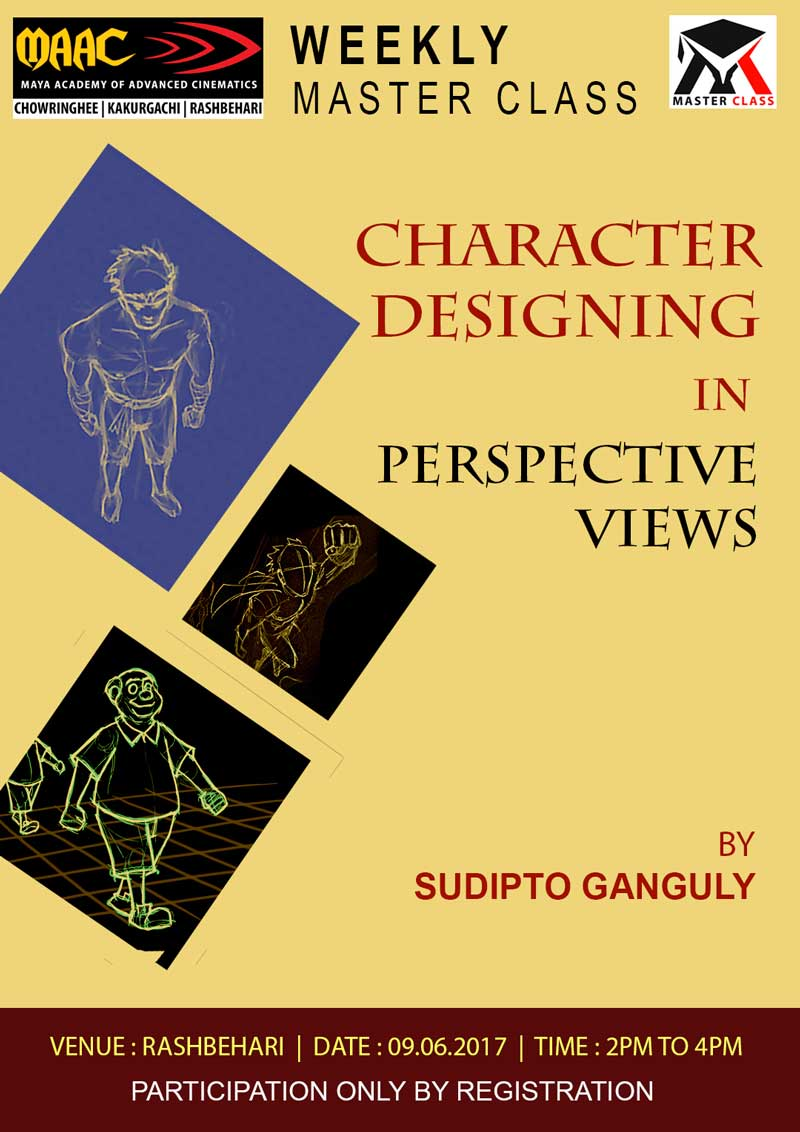 Weekly Master Class on Character Designing in Perspective View - Sudipto Ganguly