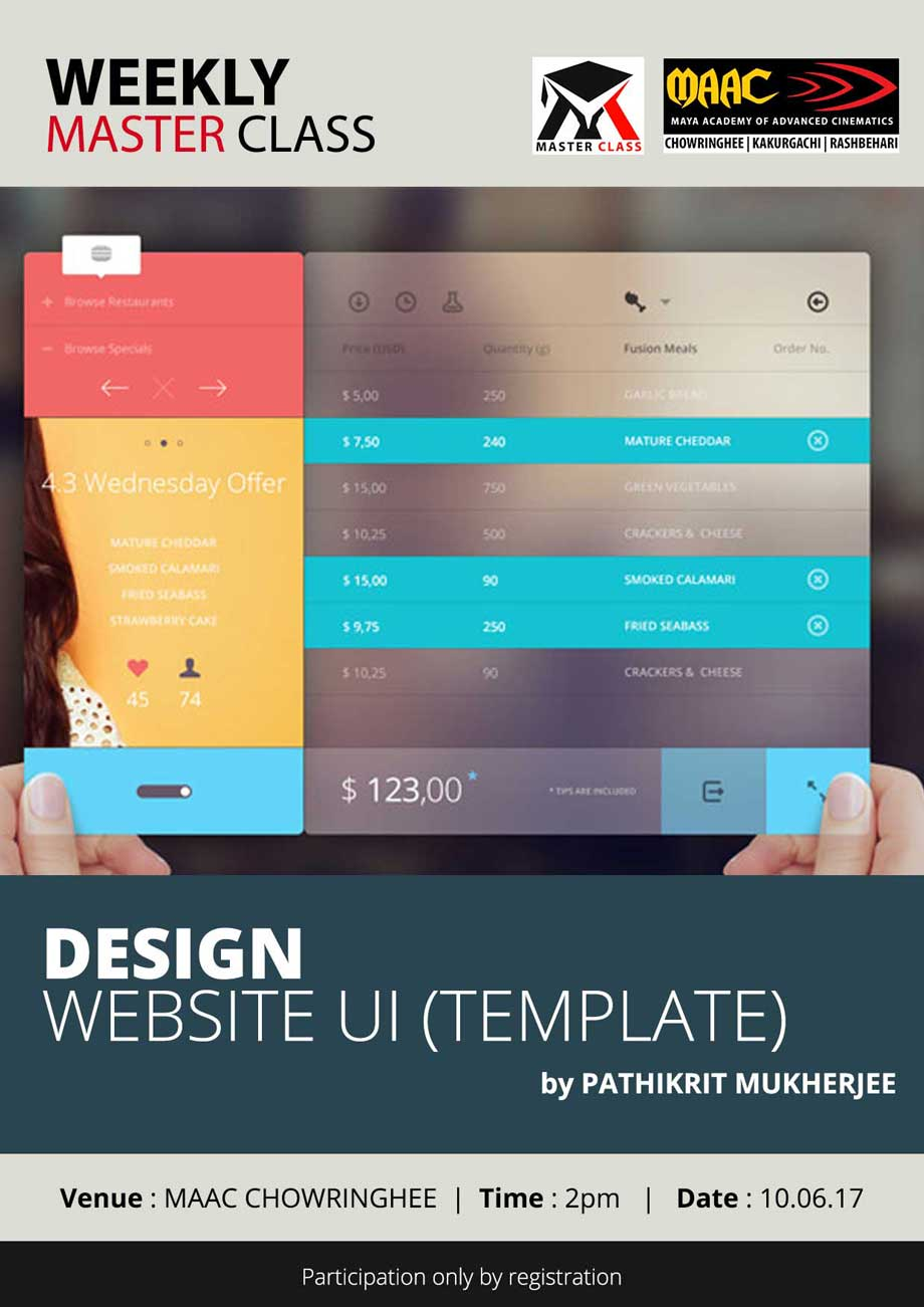 Weekly Master Class on Design Website UI - Pathikrit Mukherjee