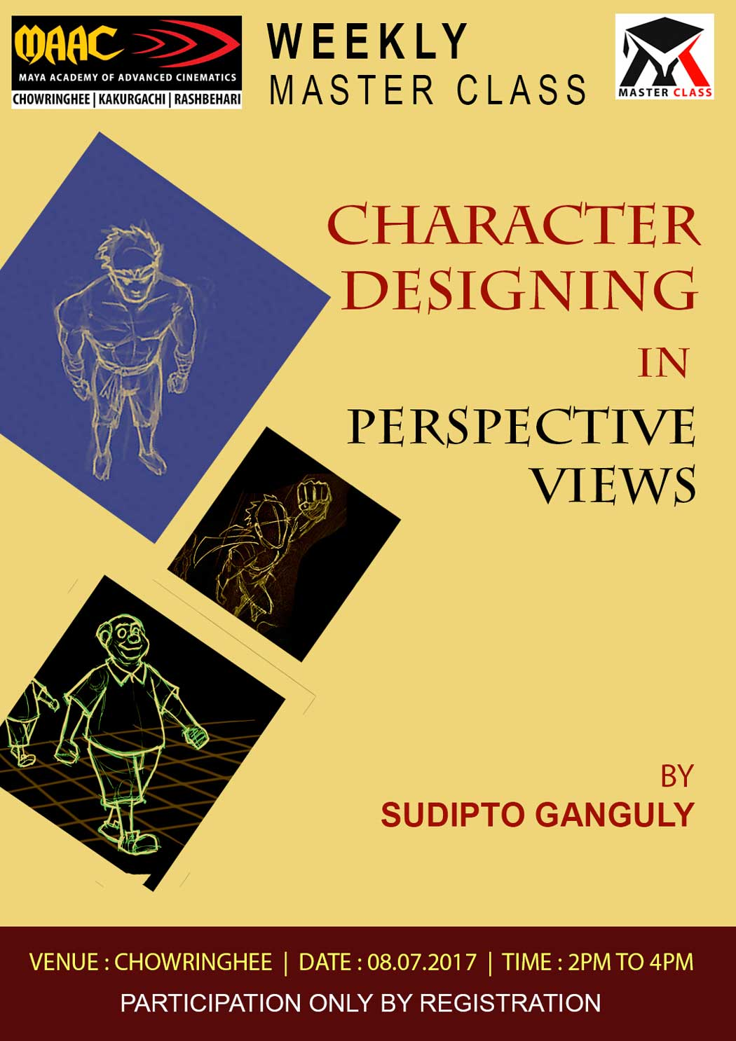 Weekly Master Class on Character Designing in Perspective Views - Sudipta Ganguly