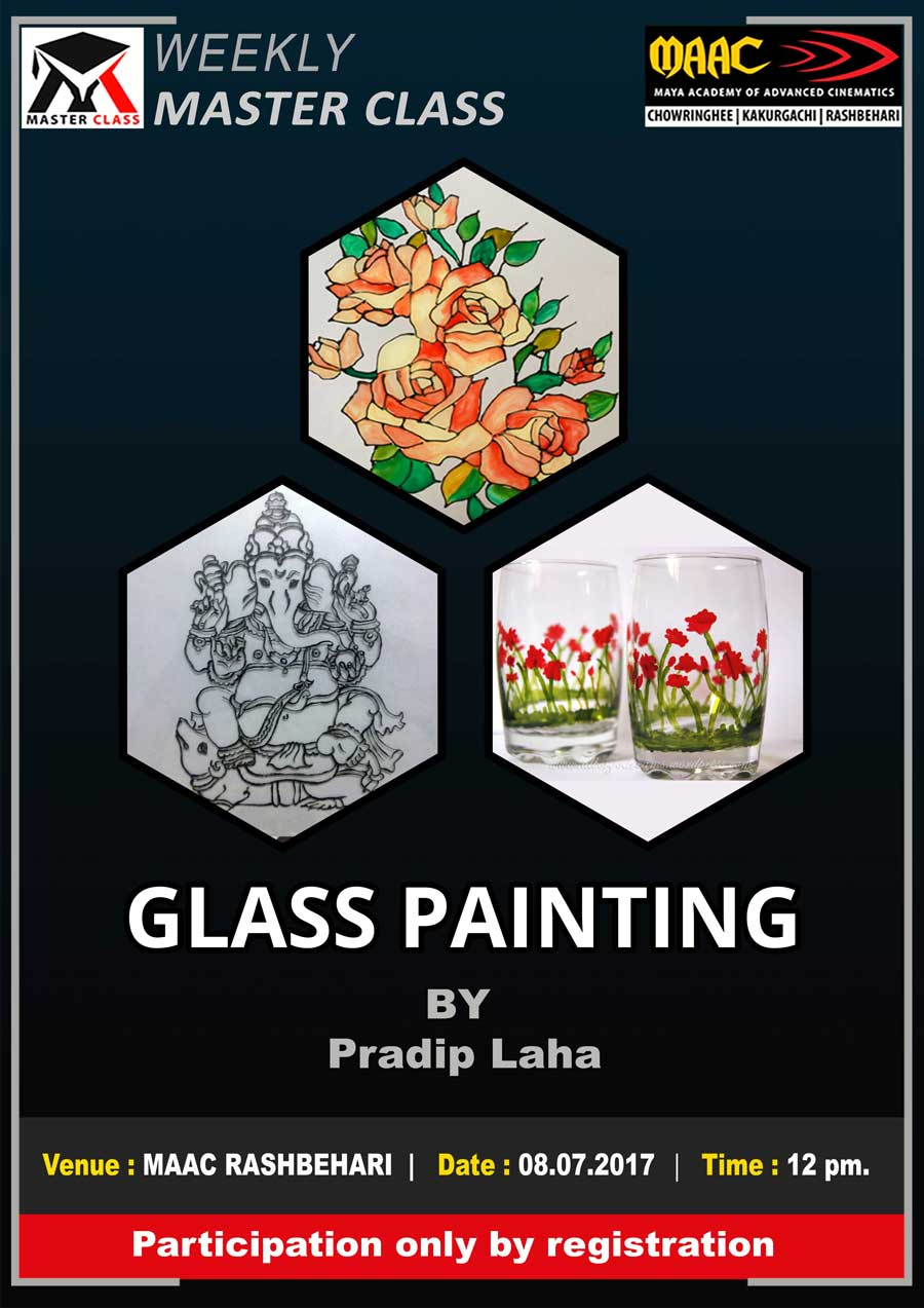 Weekly Master Class on Glass Painting - Pradip Laha