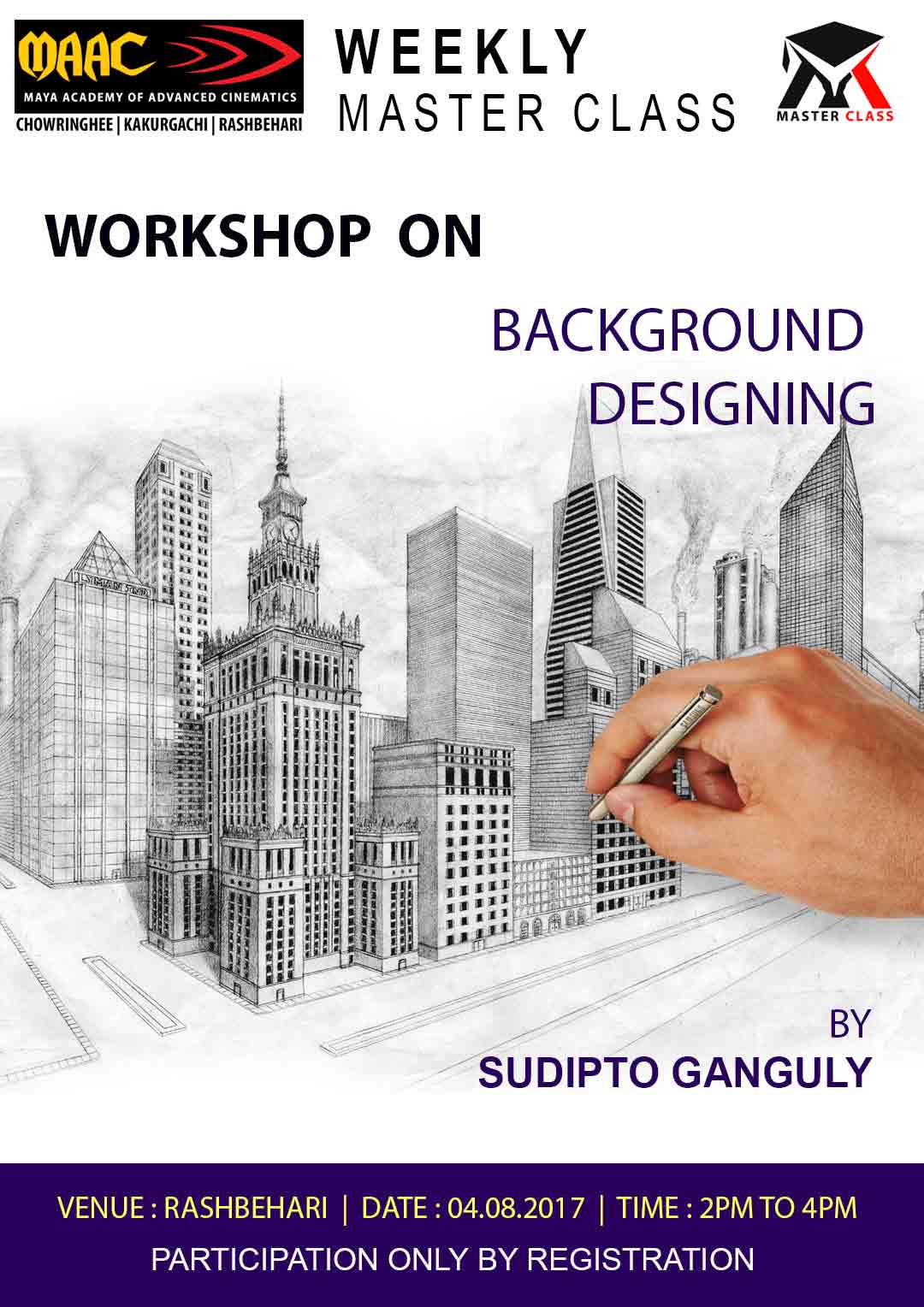 Weekly Master Class on Background Designing - Sudipto Ganguly
