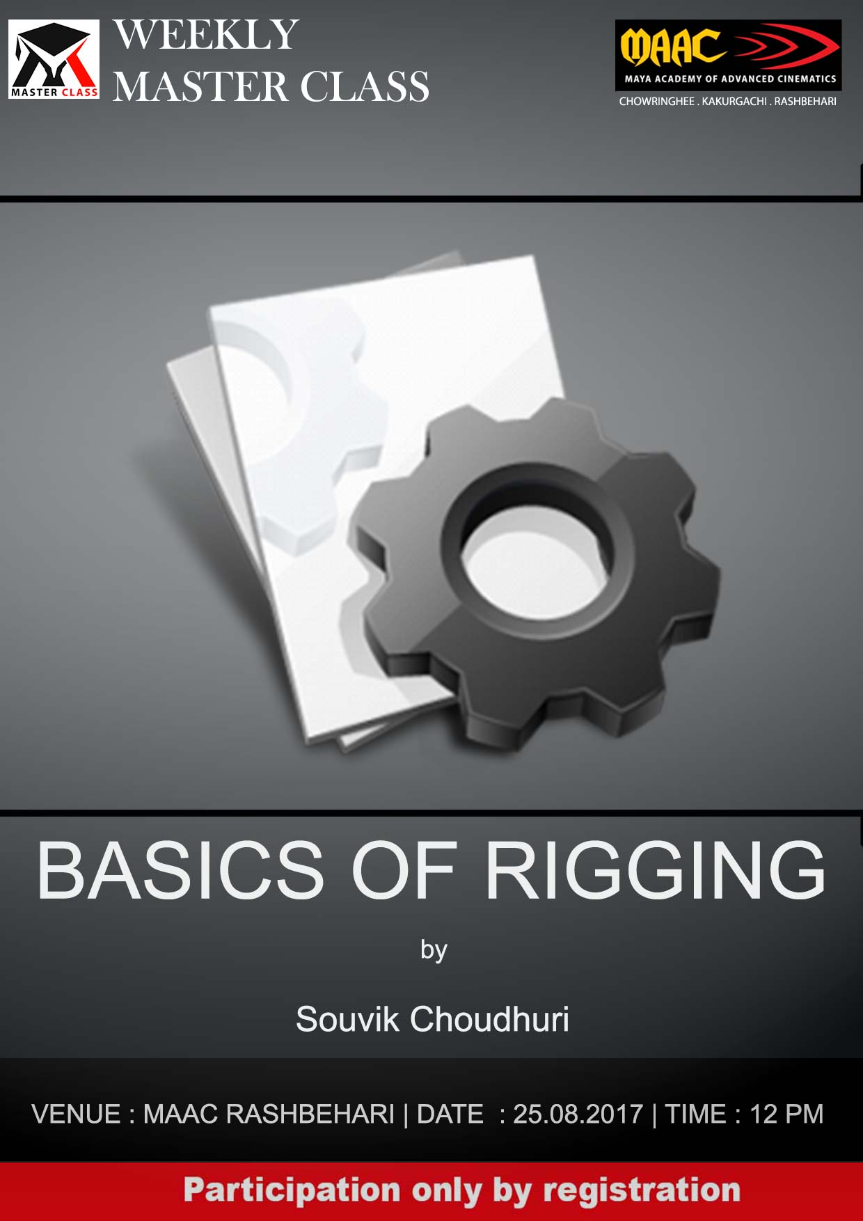 Weekly Master Class on Basics of Rigging - Souvik Choudhuri