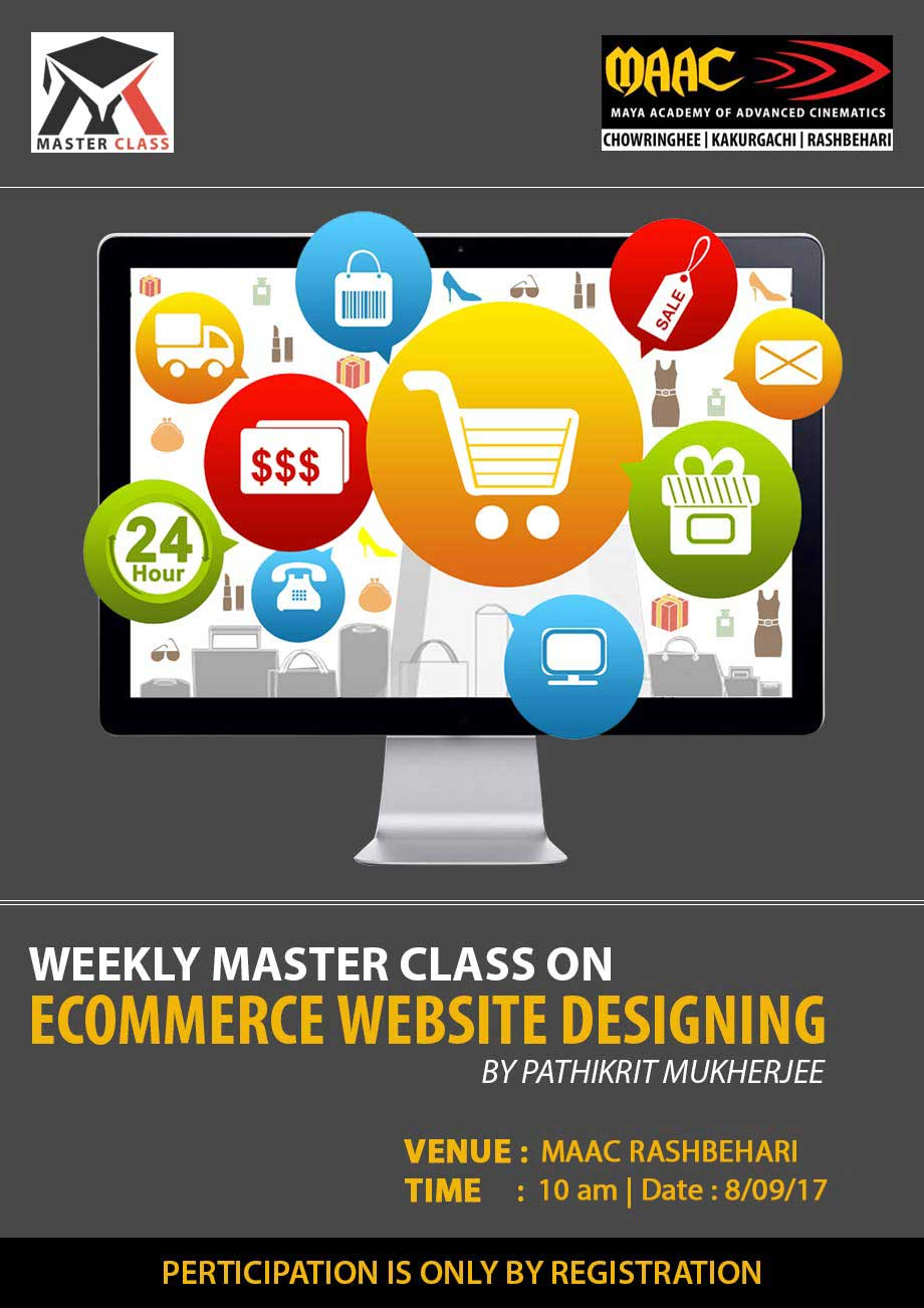 Weekly Master Class on Ecommerce Website Designing - Pathikrit Mukherjee