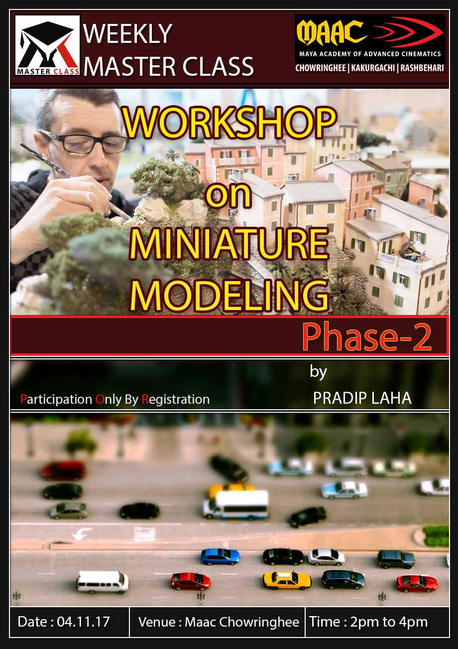 Weekly Master Class on Master class on Miniature Modeling
