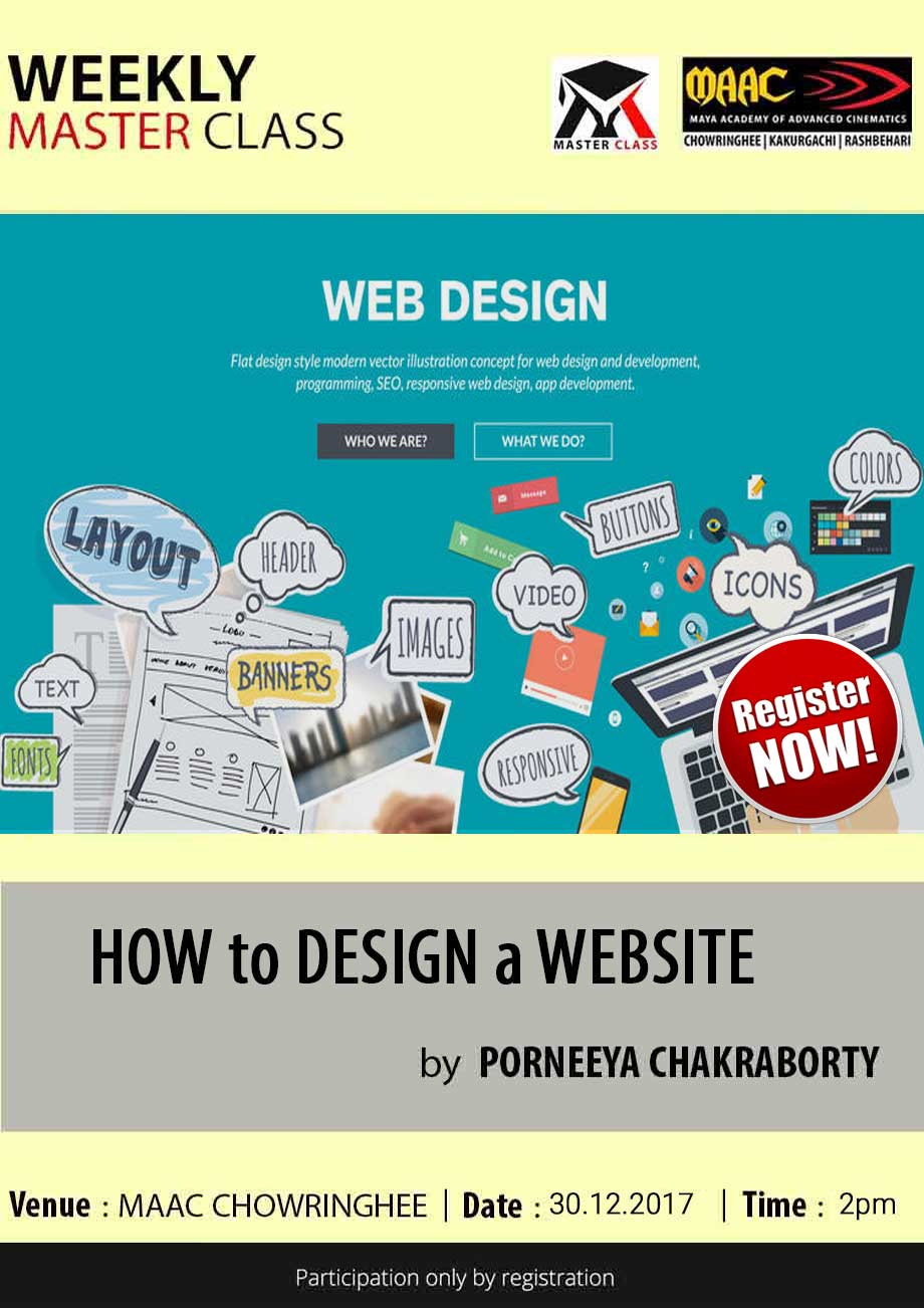 Weekly Master Class on Design a Website