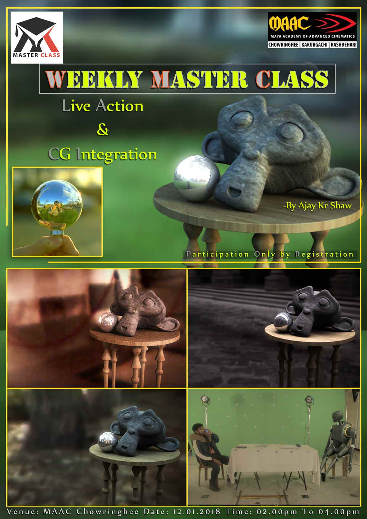 Weekly Master Class on Live Action & CG Integration