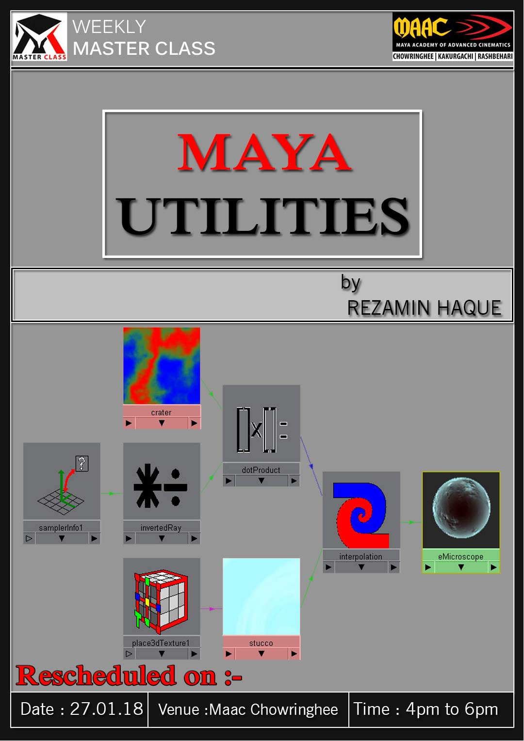 Weekly Master Class on Maya Utilities