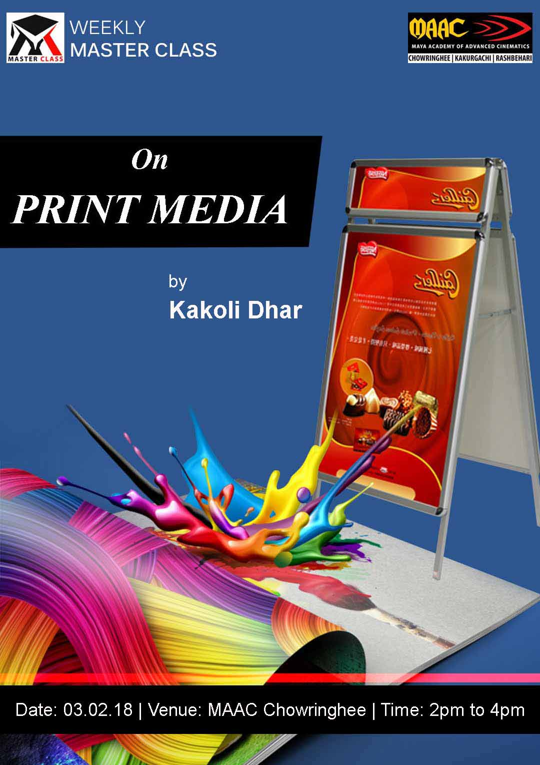 Weekly Master Class on Print Media