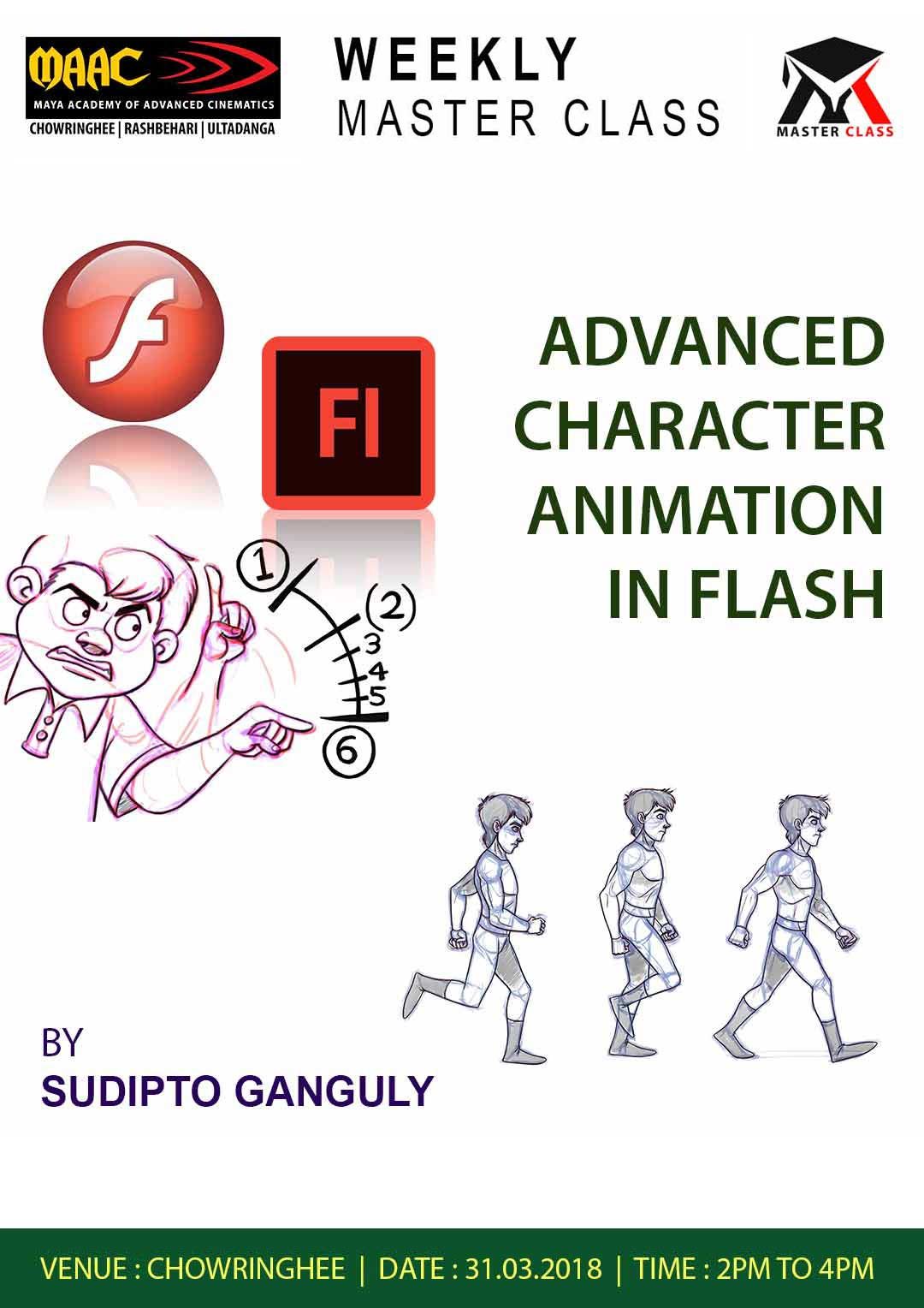 Weekly Master Class on Advanced Character animation in Flash