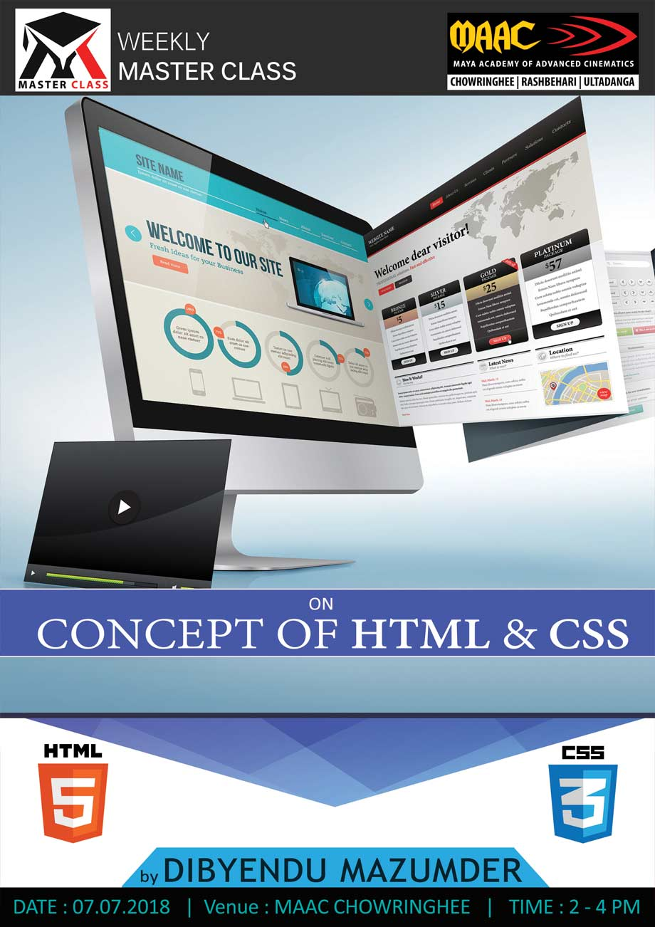 Weekly Master Class on Concept Of HTML & CSS