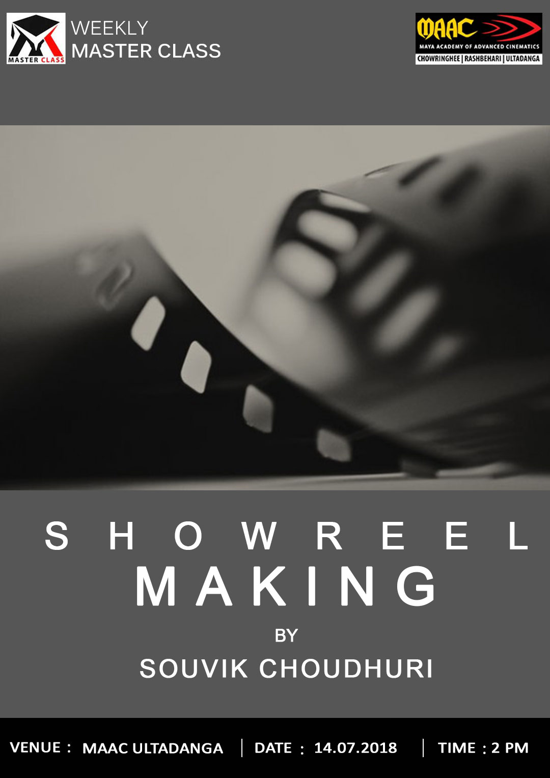 Weekly Master Class on Showreel Making