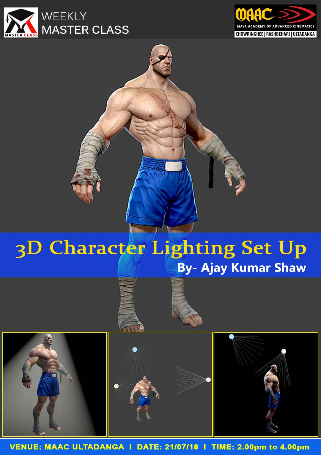 Weekly Master Class on 3D Character Lighting Set Up