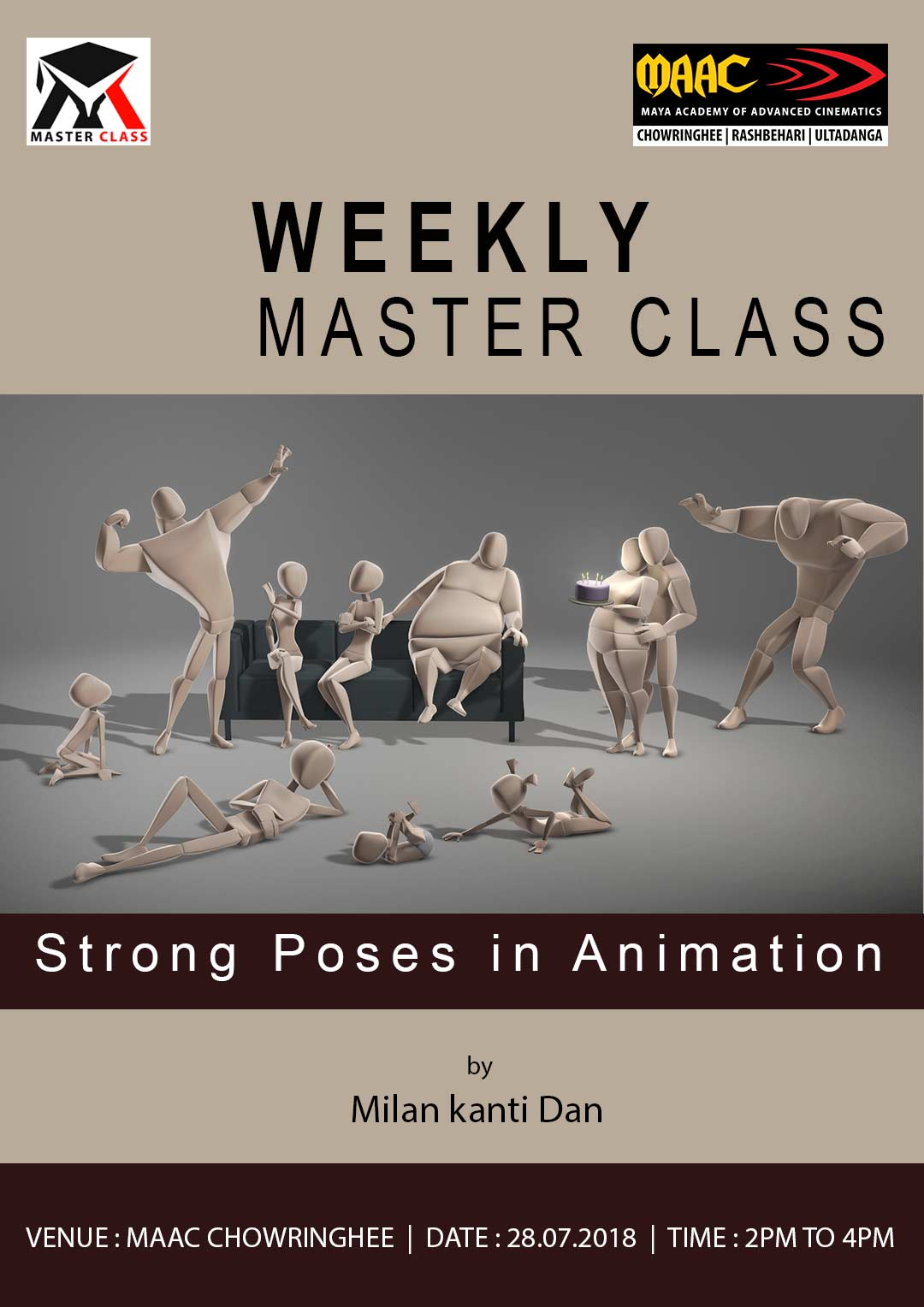 Weekly Master Class on Strong Poses in Animation