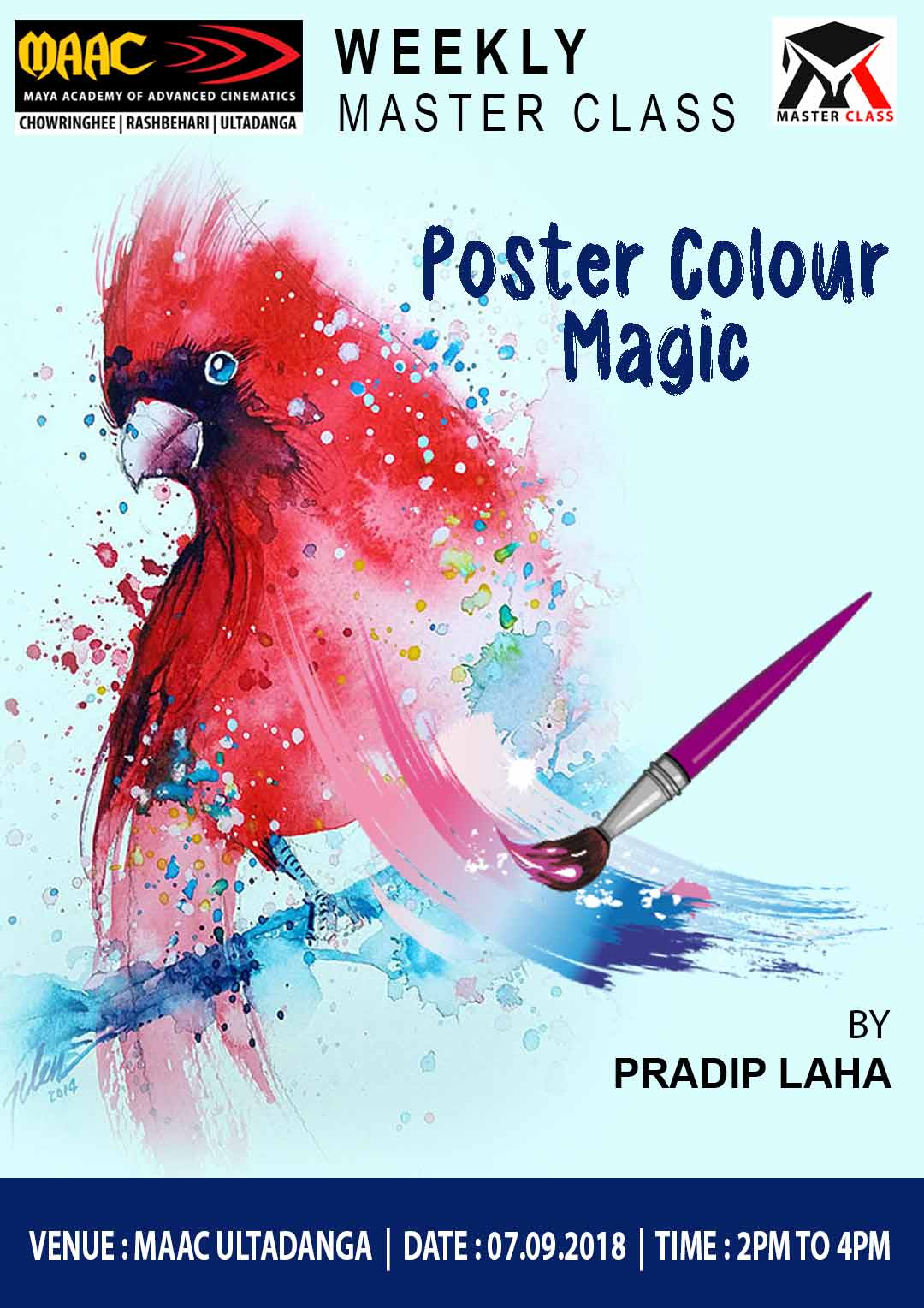 Weekly Master Class on Poster Colour Magic