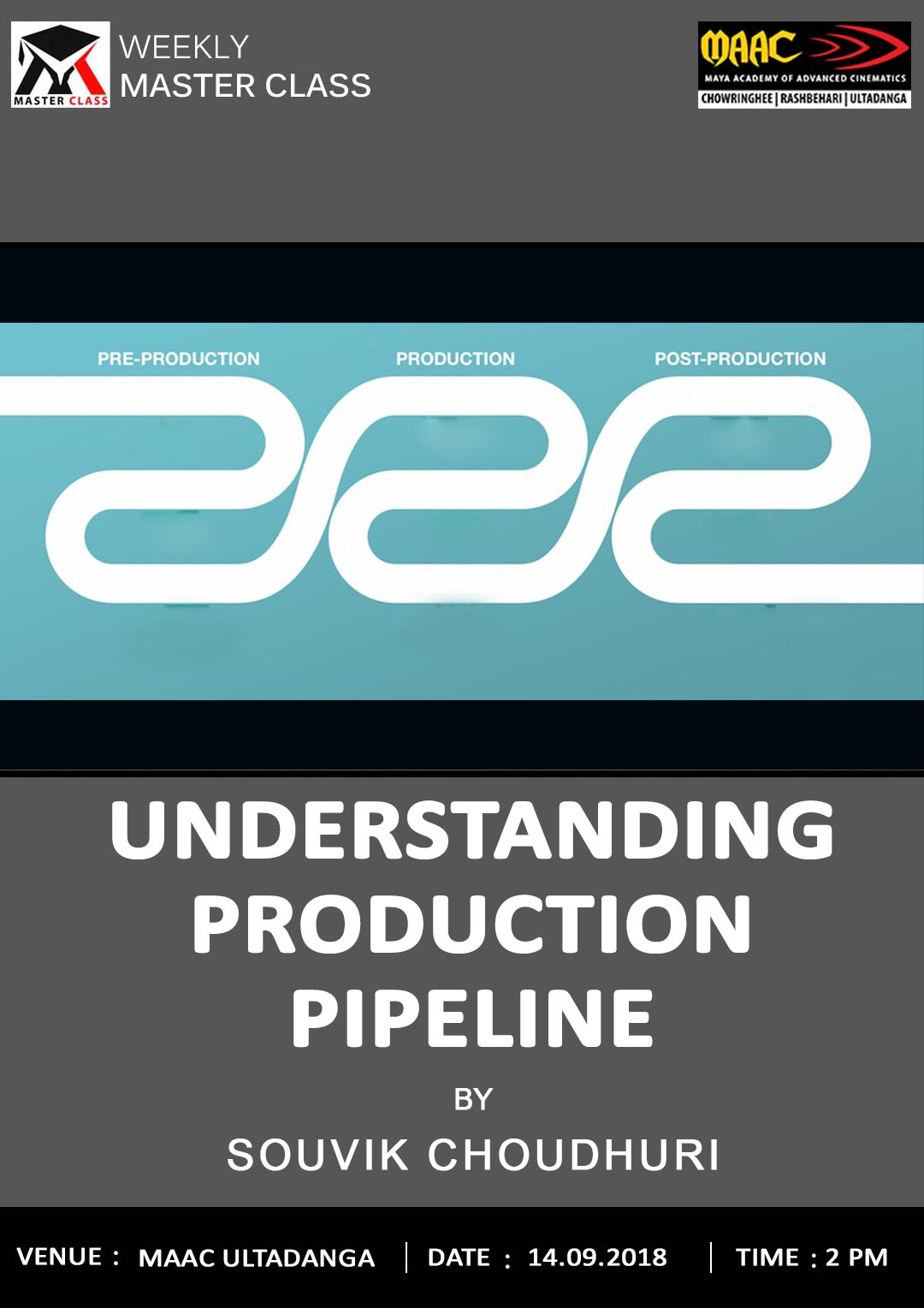 Weekly Master Class on UNDERSTANDING PRODUCTION PIPELINE