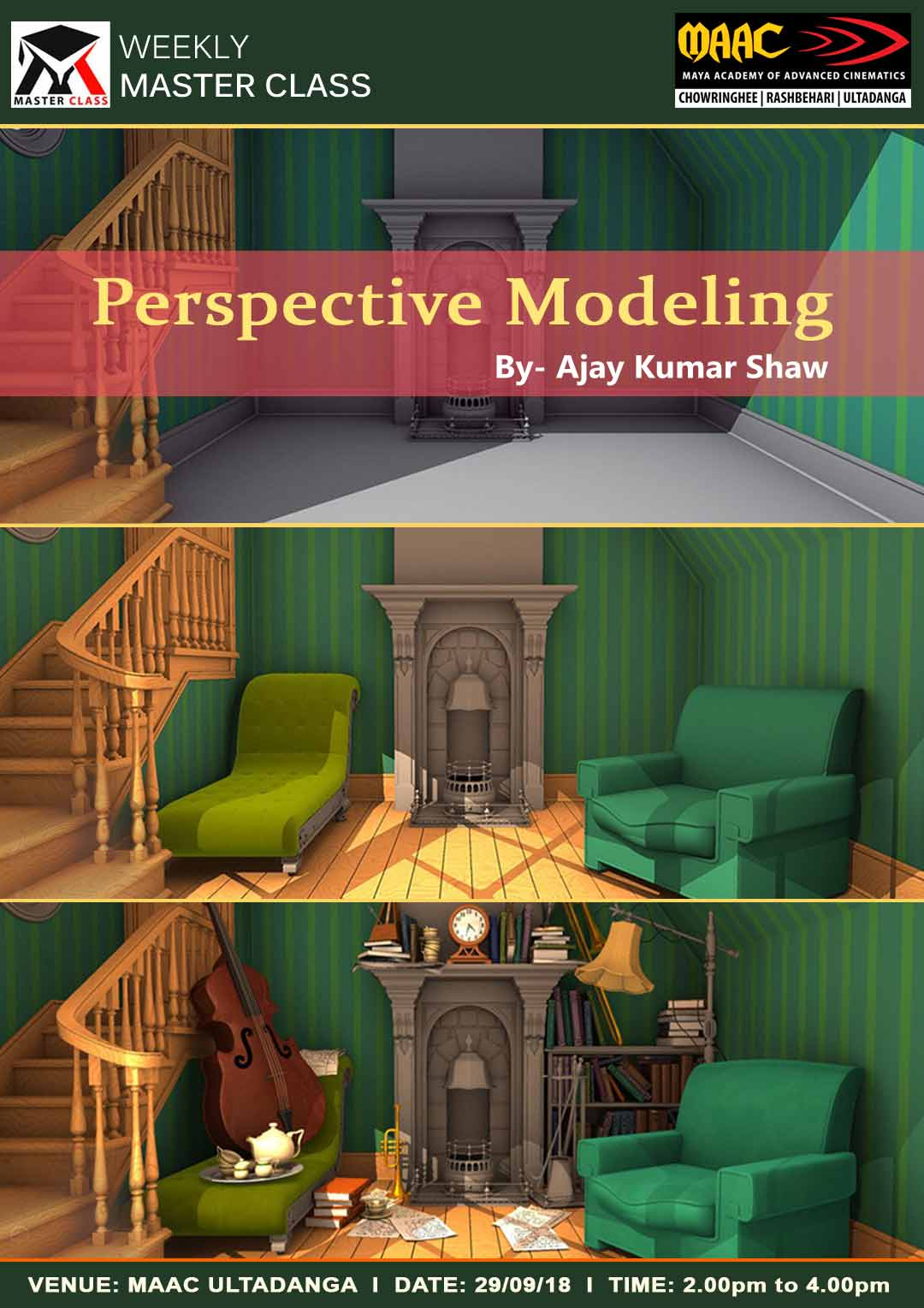 Weekly Master Class on Perspective Modeling