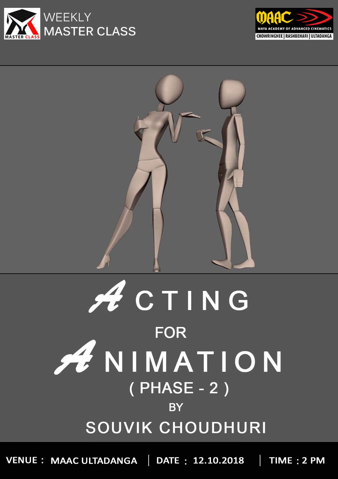 Weekly Master Class on Acting for Animation Phase- 2