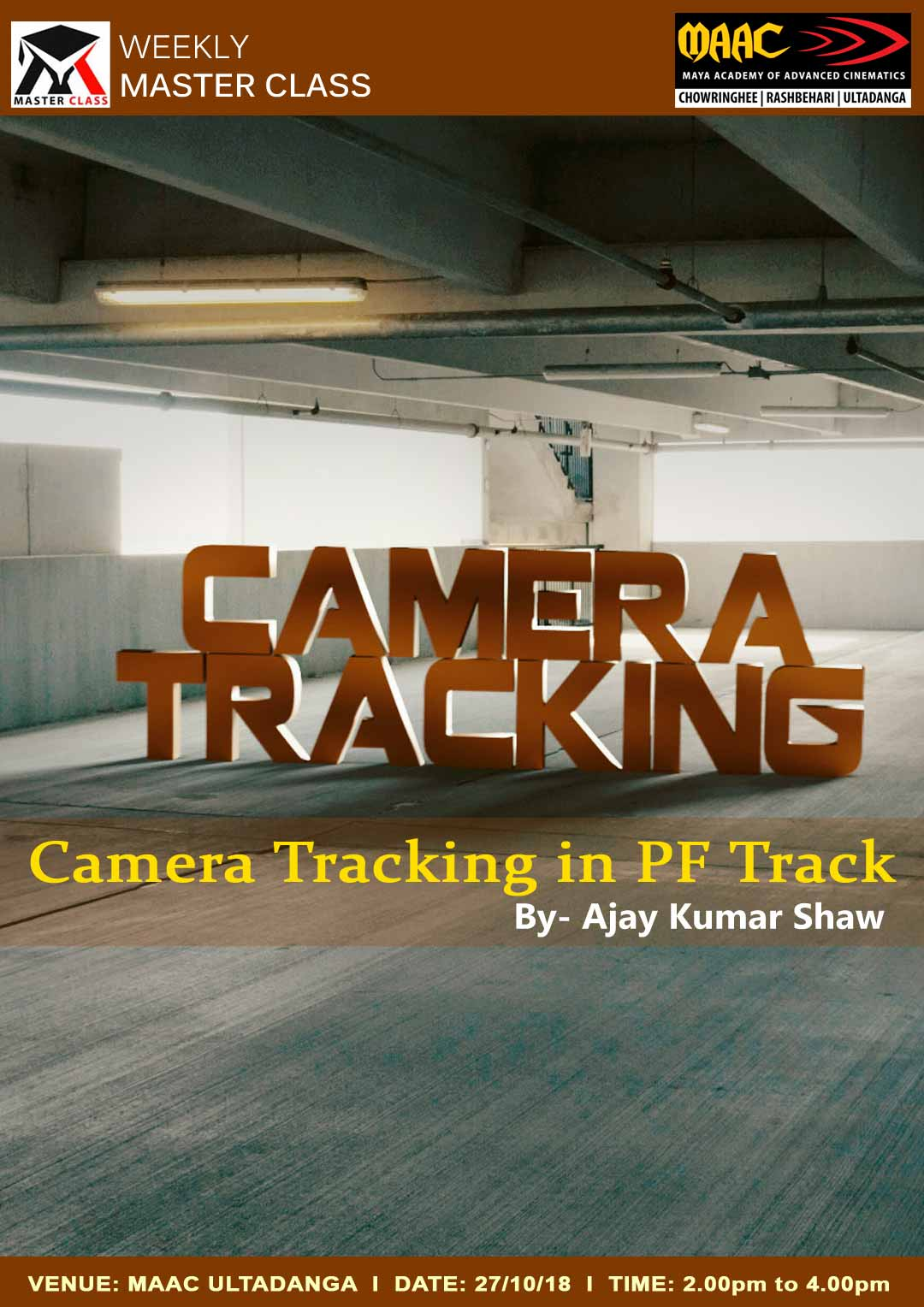 Weekly Master Class on Camera Tracking in PF Track