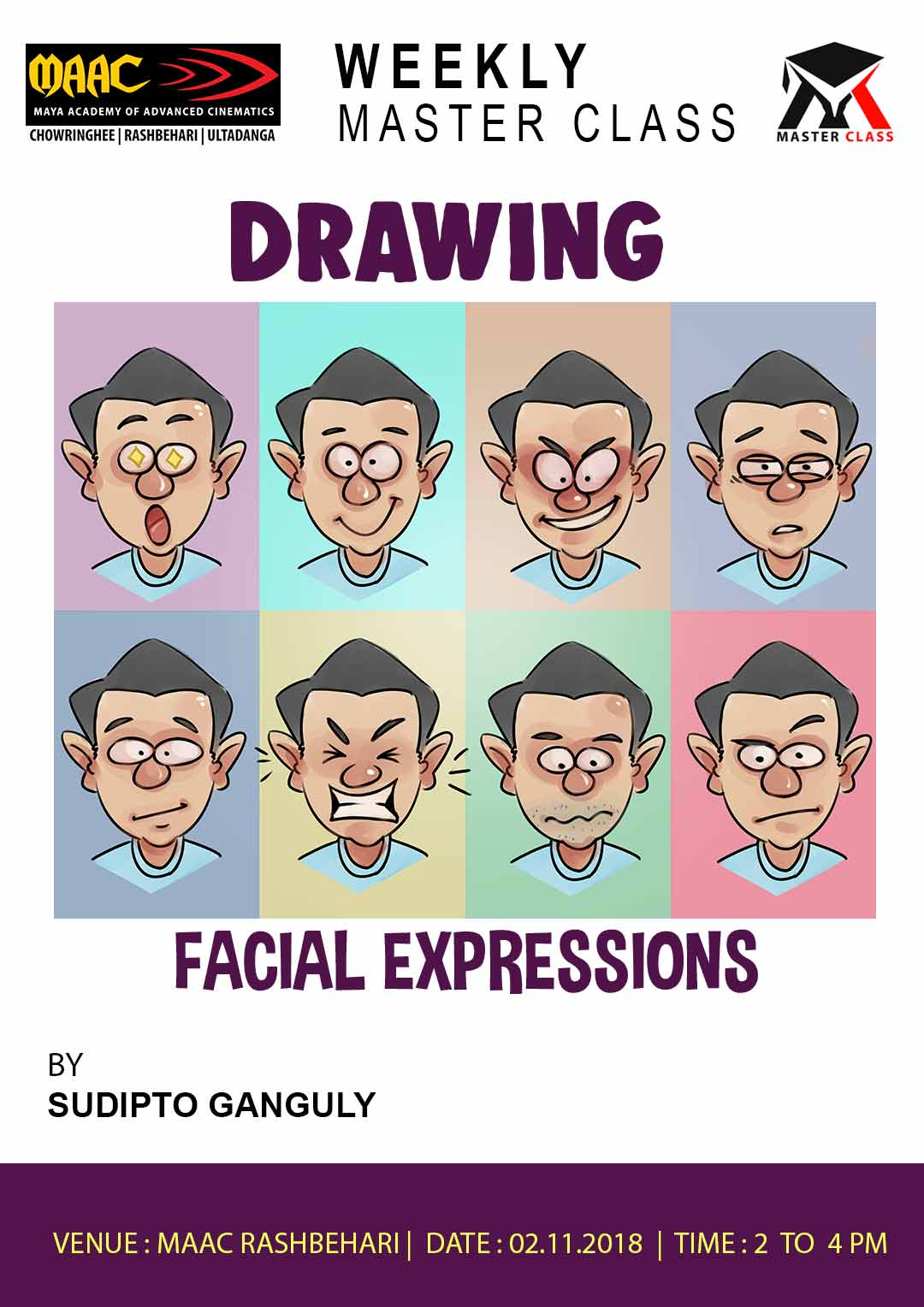 Weekly Master Class on Drawing Facial Expressions
