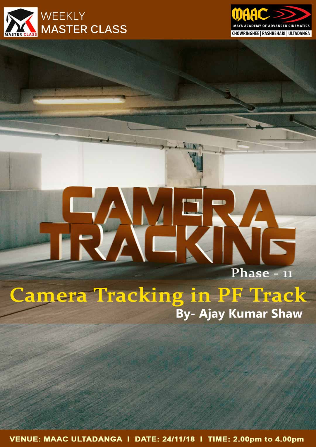 Weekly Master Class on Camera Tracking Phase 2