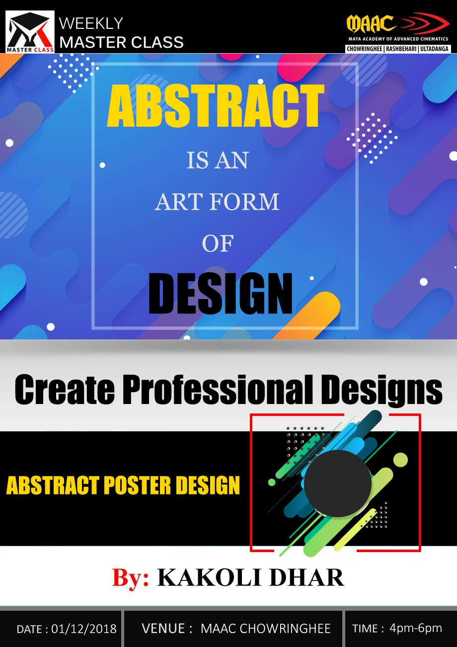 Weekly Master Class on Abstract Poster Design