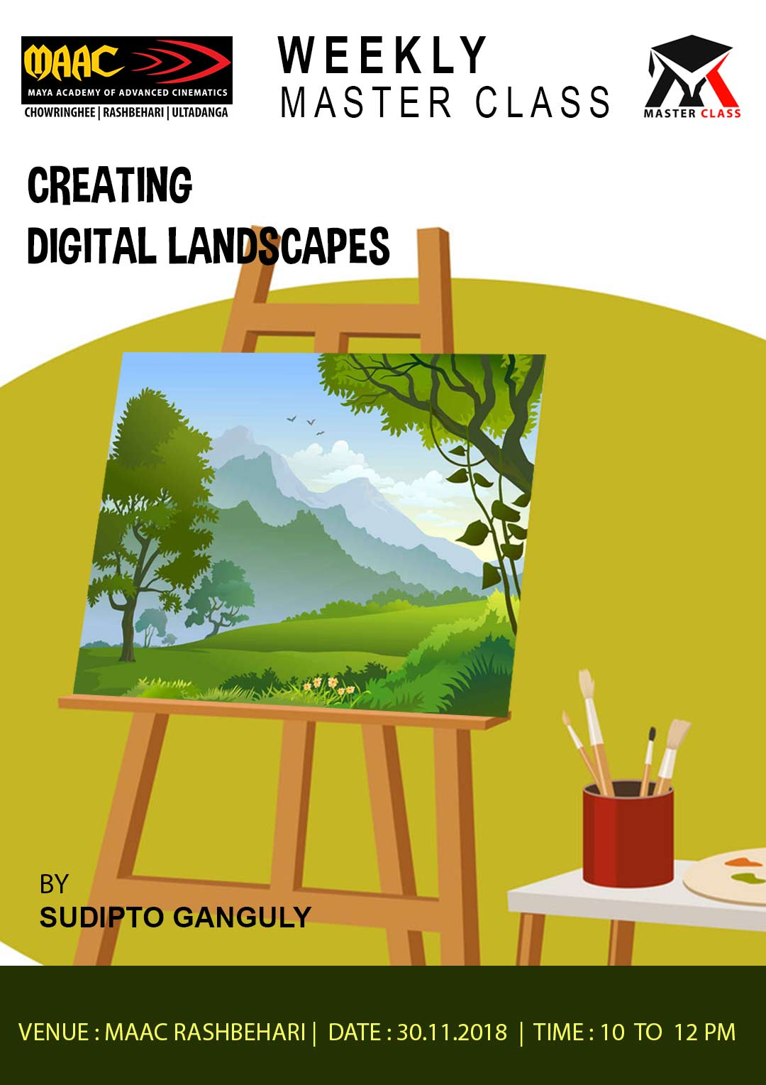 Weekly Master Class on Creating Digital Landscapes