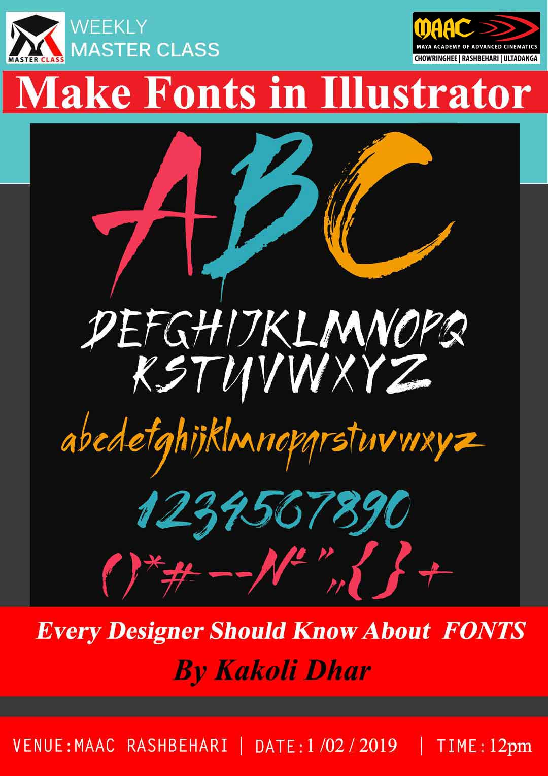 Weekly Master Class on Make Fonts in Illustrator