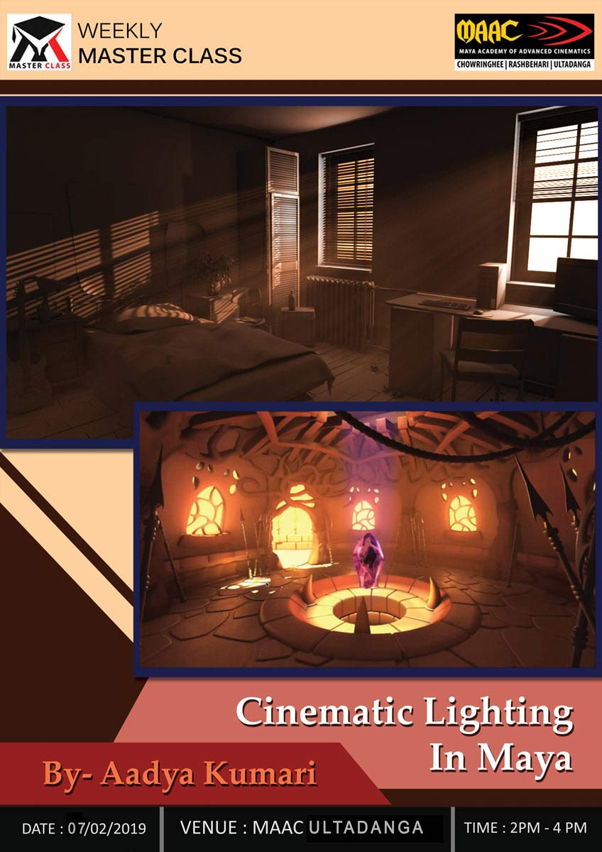 Weekly Master Class on Cinematic Lighting in Maya