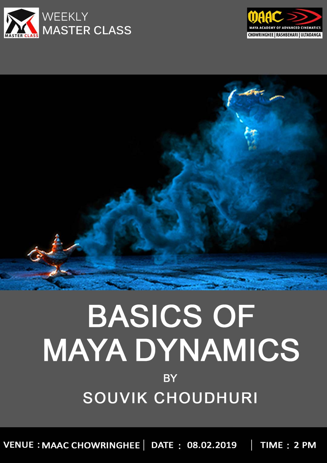 Weekly Master Class on Basics Of Maya Dynamics