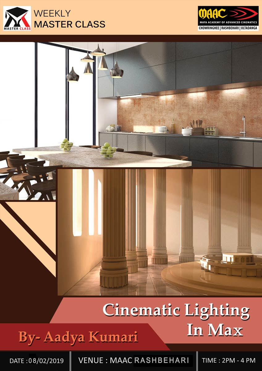 Weekly Master Class on Cinematic Lighting in Max