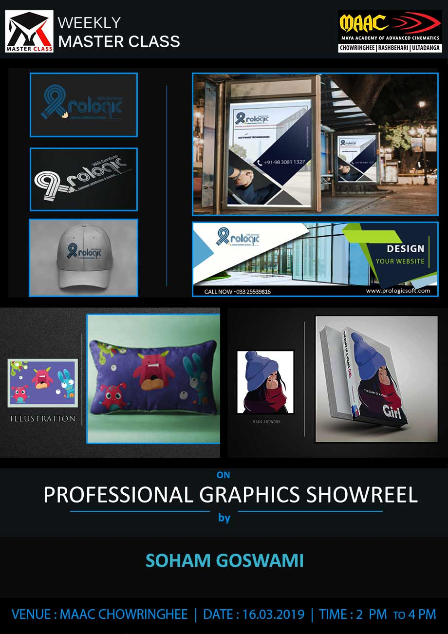 Weekly Master Class on Professional Graphics Showreel