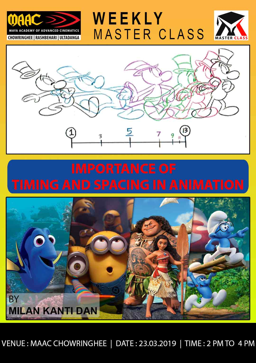 Weekly Master Class on Importance Of Timing & Spacing in Animation