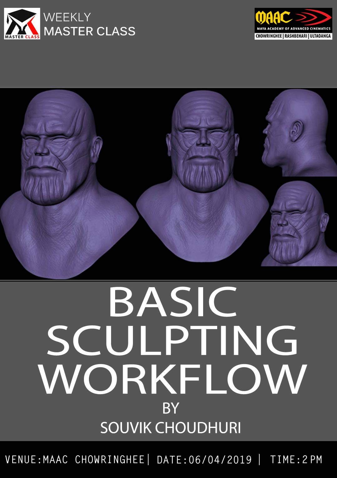 Weekly Master Class on Basic Sculpting Workflow