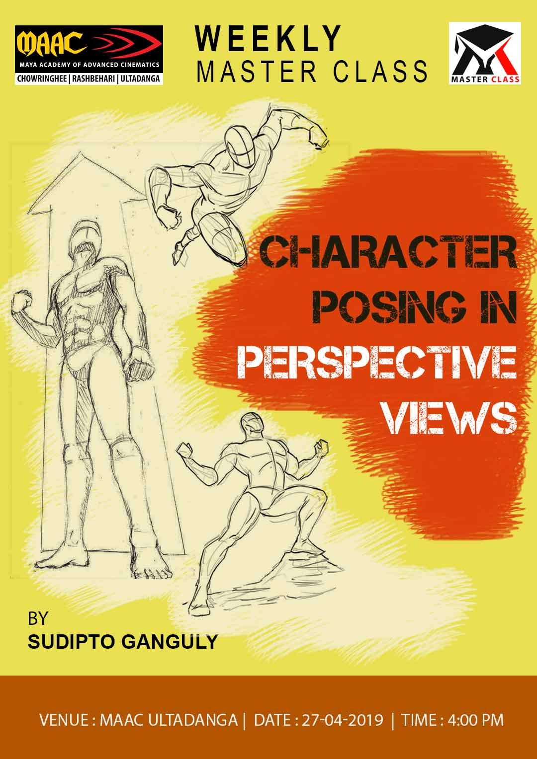 Weekly Master Class on Character Posing in Perspective views