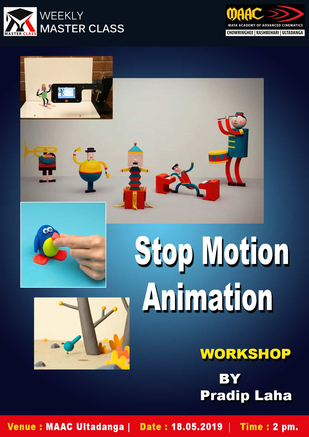 Weekly Master Class on Stop Motion Animation